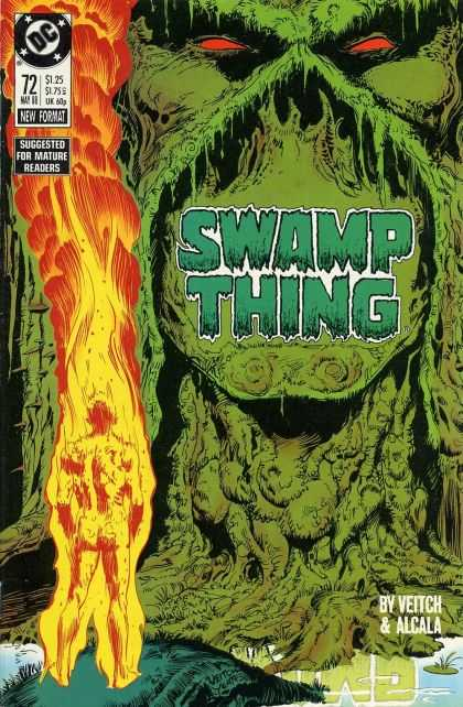 Swamp Thing 72 - Gorilla - Veitch Alcala - Suggested For Mature Readers - 72 May - New Format