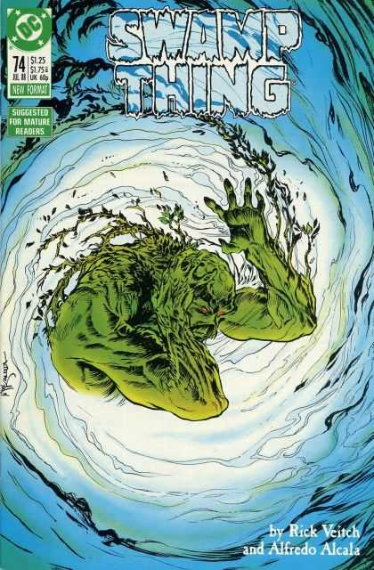 Swamp Thing 74 - Dc - Green - Rick Veitch - Alfredo Alcala - New Format - John Totleben
