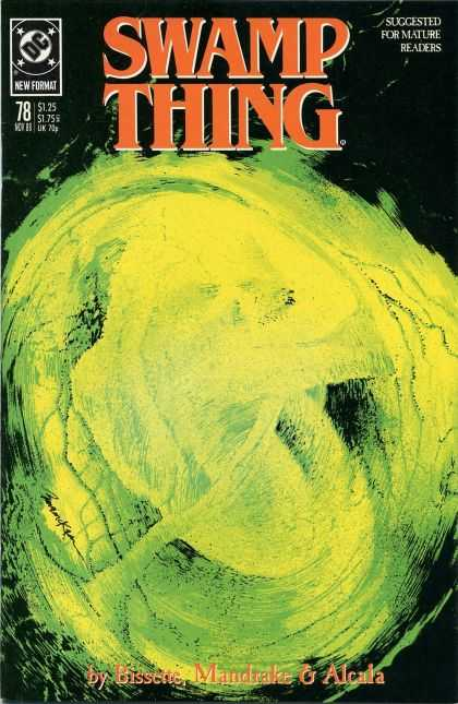 Swamp Thing 78 - Green - Dark - Blot - Smear - Black - Dave McKean