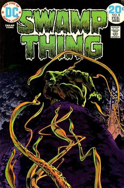 Swamp Thing 8 - The Line Of The Super Stars - Green Monster - Blast - Fire - Evil - Richard Corben, Simon Bisley