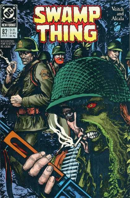 Swamp Thing 82 - Green - Helmet - Military - Army - Cigarette - John Totleben