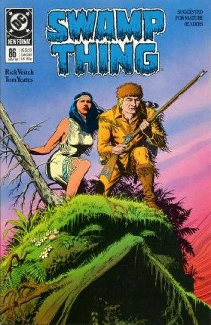 Swamp Thing 86 - Gun - Swamp Thing - Native American - Monster - Thomas Yeates