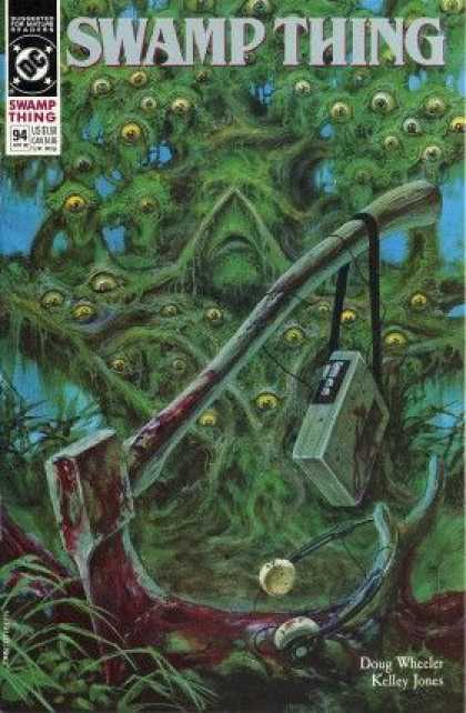 Swamp Thing 94 - Axe - Doug Wheeker - Kelly Jones - Monster - Player - John Totleben