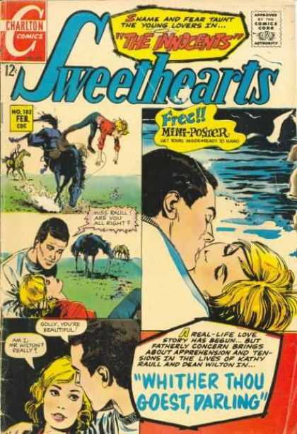 Sweethearts 102 - Kissing - Charlton - Real-life - Golly Youre Beautiful - Kathy Raull
