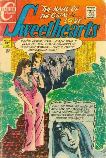 Sweethearts 110 - Charlton - May - 15 Cents - The Name Of The Game Is Love - Speech Bubble