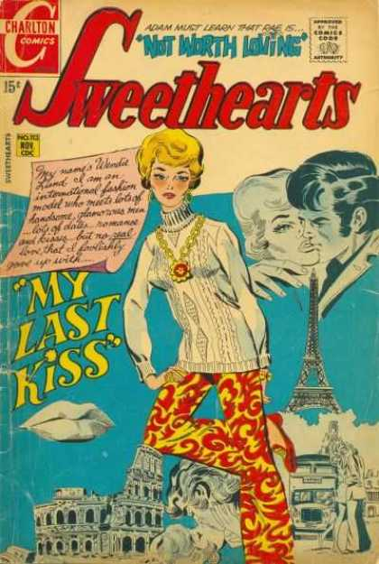 Sweethearts 113 - Effiel Tower - Kissing - Lips - Man - Letter