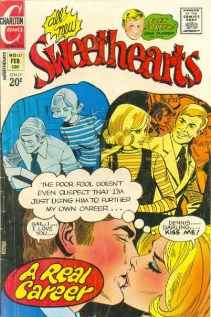 Sweethearts 132 - Charlton - Charlton Comics - Love - Real Career - Kissing