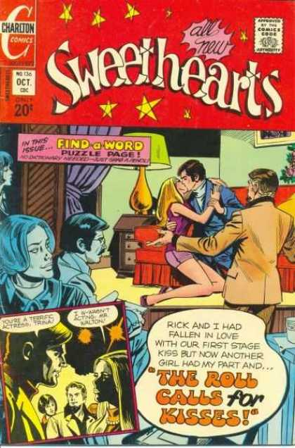 Sweethearts 136 - Charlton Comics - Approved By The Comics Code - All New - Man - Woman
