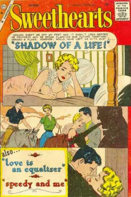 Sweethearts 52 - Approved By The Comics Code - Shadow Of Life - Woman - Bed - Horse