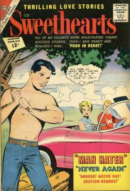 Sweethearts 65 - Tree - Bare Chest - Clouds - Chopping Wood - Blue Jeans