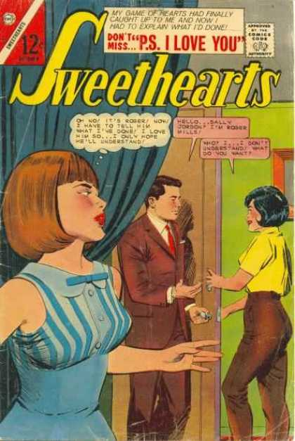 Sweethearts 89 - Red Tie - Tight Pants - Red Lipstick - Black Hair - Yellow Top