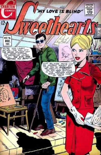 Sweethearts 96 - My Love Is Blind - Sunglasses - Walking Stick - Glove - Blonde Hair