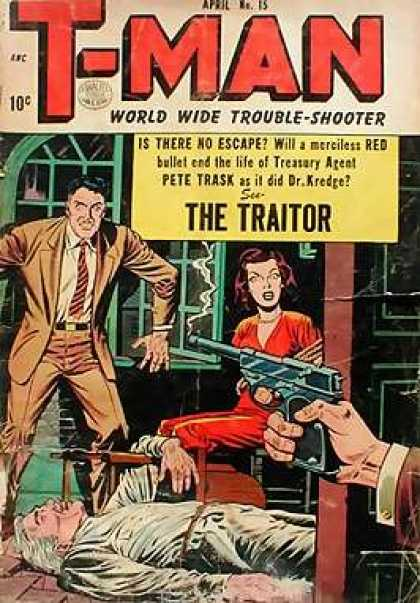 T-Man 15 - The Traitor - Escape - Red - Pete Trask - Pistol