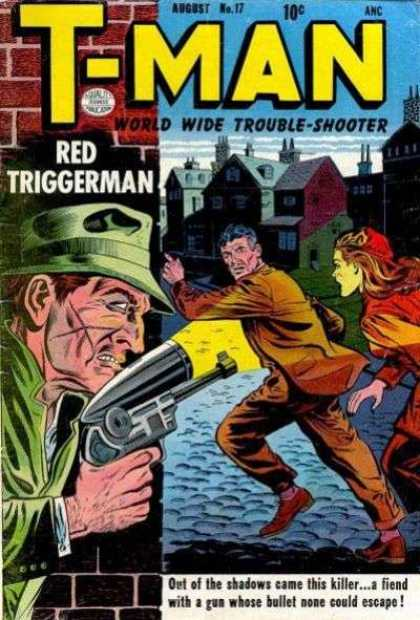 T-Man 17 - August No17 - Red Triggerman - Cap - Gun - World Wide Trouble Shooter