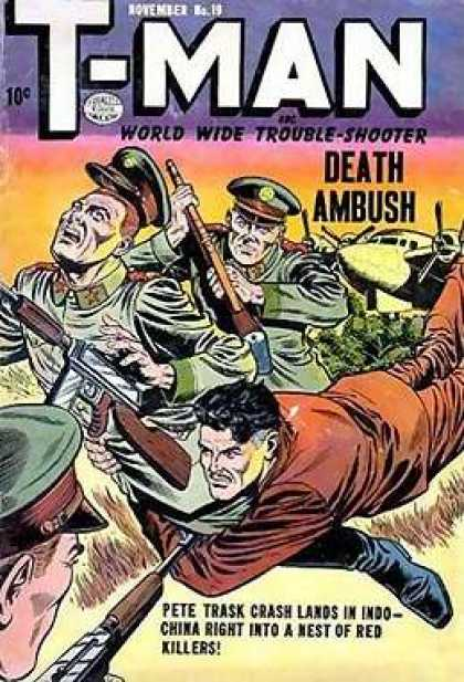 T-Man 19 - World Wide Trouble-shooter - Death Ambush - November No 19 - Guns - Soldiers