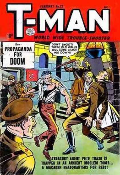 T-Man 22 - Treasury Agent - Propaganda - Headquarters - Fighting - Doom