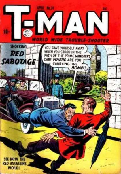 T-Man 24 - Red Assasins - Shocking Red Sabotage - Big Ben - Prime Minister - Bobby