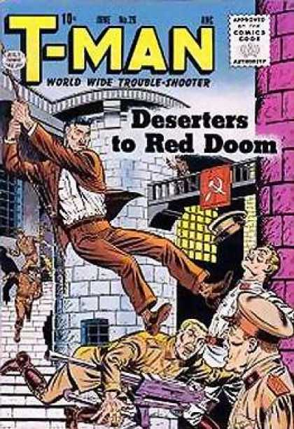 T-Man 26 - Rope - Stairs - Police Man - Gun - Deserters To Red Doom