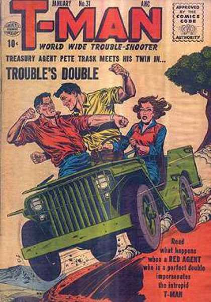 T-Man 31 - Troubles Double - Jeep - Pete Trask - Agent - Woman Driver