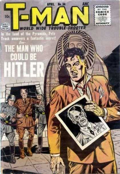 T-Man 34 - Hitler - Look Alike - Sarcophagus - Double - Caught