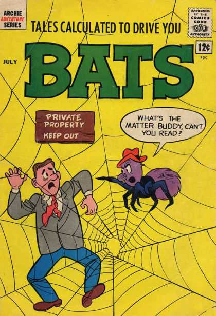 Tales Calculated to Drive You Bats 5 - Private Property - Keep Out - Spider - Spiderweb - Man Caught In Web