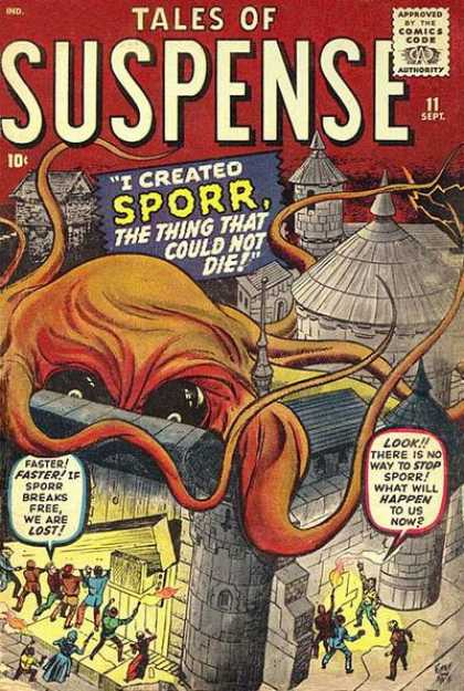 Tales of Suspense 11 - Castle - Marvel - Horror - Kirby - Tentacles