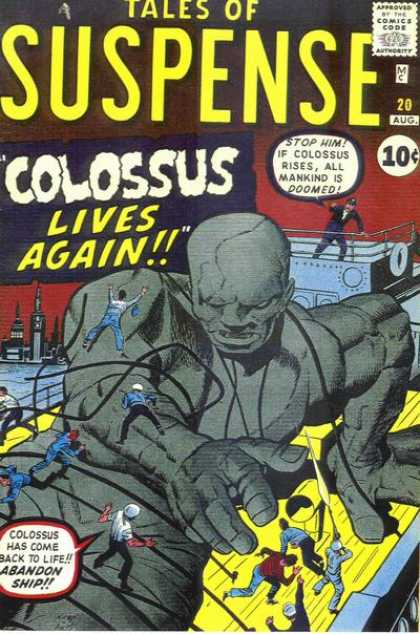 Tales of Suspense 20 - Colossus Lives Again - Abandon Ship - Man Kind Is Doomed - Iron Man - Captain - Jack Kirby