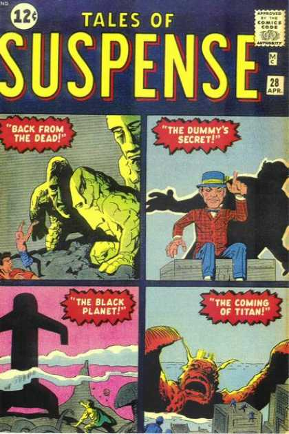 Tales of Suspense 28 - Zombies - The Dummys Secret - The Black Planet - Titan Attacks City - Many Stories In One Comic