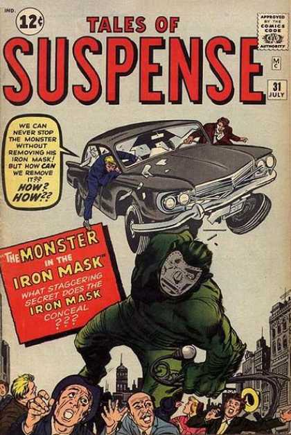 Tales of Suspense 31 - Monster - Mask - Giant - Rampage - Car