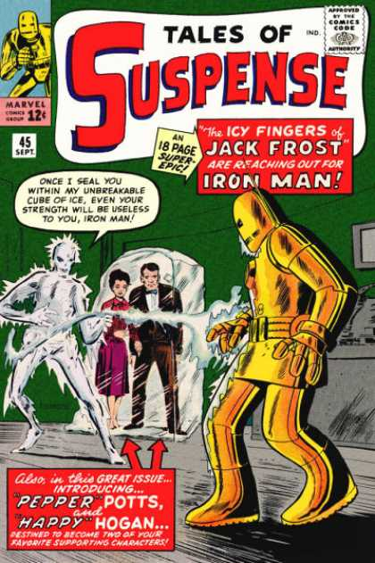 Tales of Suspense 45 - Icy Fingers - Jack Forest - Iron Man - Cube Of Ice - 45 Sept - Jack Kirby