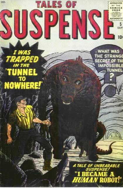 Tales of Suspense 5 - Approved By The Comics Code - I Was Trapped - Monster - Man - I Became A Human Robot