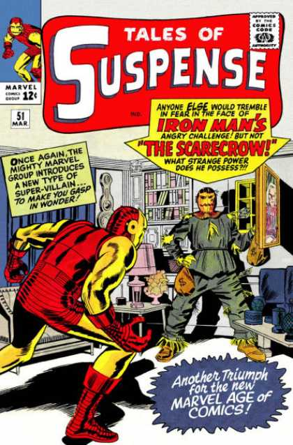 Tales of Suspense 51 - Iron Man - The Scarecrow - Tales Of Suspense - Lamp - Bookcase - Jack Kirby