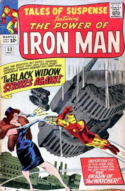 Tales of Suspense 53 - Power Of Iron Man - Issue 53 - May Issue - Black Widow Strikes Again - Origin Of The Watcher - Jack Kirby
