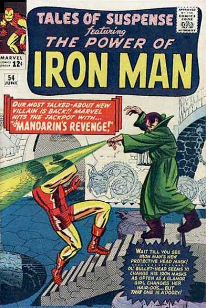 Tales of Suspense 54 - The Power Of Iron Man - Mandarins Revenge - Dragon Decoration - Doorway - Stairs - Jack Kirby