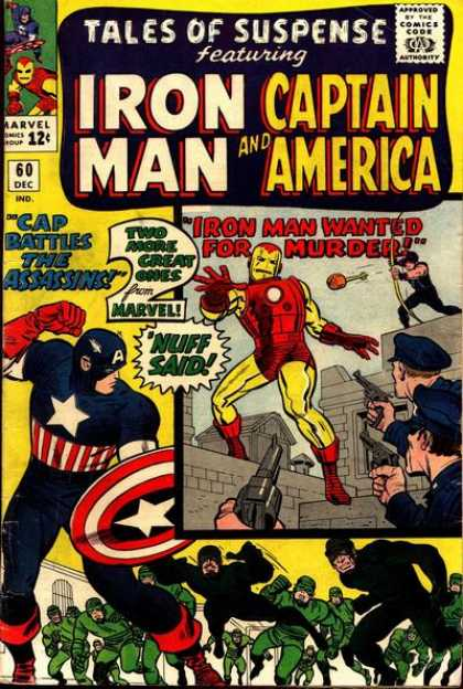 Tales of Suspense 60 - Murder - Brave Man - Police Officer - Holding Gun - Pointing Iron Man - Charles Stone, Jack Kirby