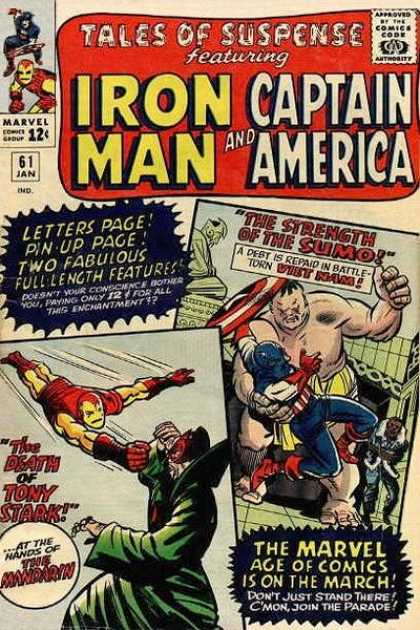 Tales of Suspense 61 - Marvel - Marvel Comics - Iron Man - Captain America - Mandrian - Charles Stone, Jack Kirby