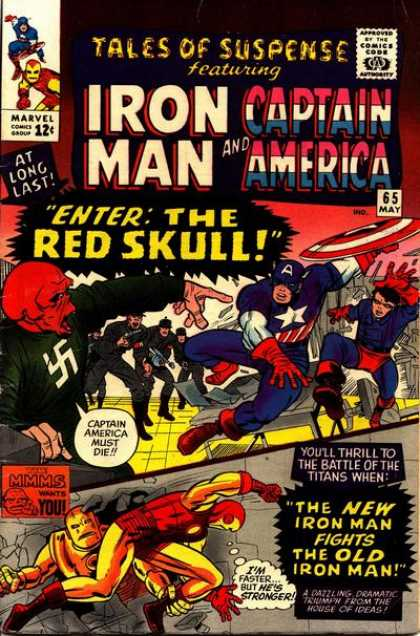 Tales of Suspense 65 - Iron Man - Red Skull - Captain America - Spiderman - Yellow Floor - Charles Stone, Jack Kirby
