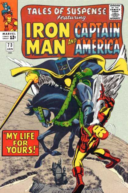 Tales of Suspense 73 - Iron Man - Captain America - My Life For Yours - January - Joust - Gene Colan