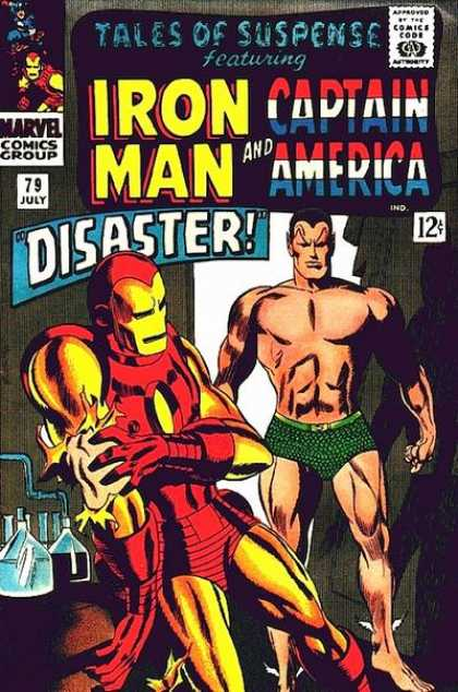 Tales of Suspense 79 - Iron Man Saves The Day - Captain America In The Contest - I Got Hit - The Laboratory - Can You Sew - Gene Colan