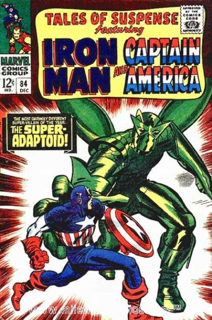 Tales of Suspense 84 - Captain America - Iron Man - The Super-adaptoid - Sheild - Wings - Jack Kirby
