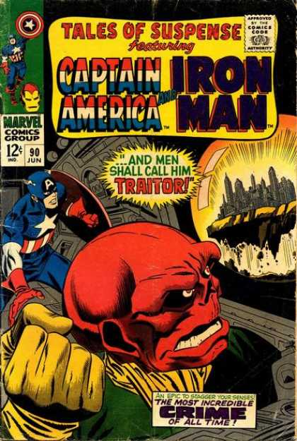 Tales of Suspense 90 - Traitor - Captain America - Iron Man - City In A Bubble - Incredible Crime Of All Time - Joe Sinnott