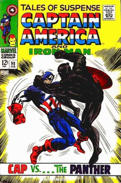 Tales of Suspense 98 - Black Panther - Tales Of Suspense - Cap - The Panther - Marvel Comics Group - Jack Kirby