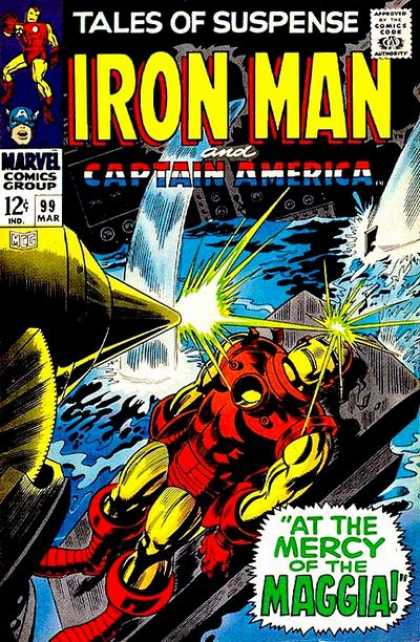 Tales of Suspense 99 - Iron Man - Maggia - Captain America - At The Mercy Of Maggia - Water - Gene Colan