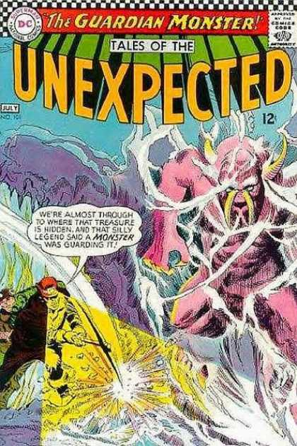 Tales of the Unexpected 101 - The Guardian Monster - Hidden Treasure - Silly Legend - Pink Monster - Pickaxe - Carmine Infantino, George Roussos