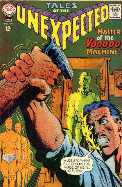 Tales of the Unexpected 104 - Master Of The Voodoo Machine - Stop Shooting - Shoot Image - Tied To Doppelganger - Voodoo Doll - Neal Adams