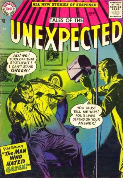 Tales of the Unexpected 11 - Green - Stories Of Suspense - The Man Who Hated Green - Photography - Lights