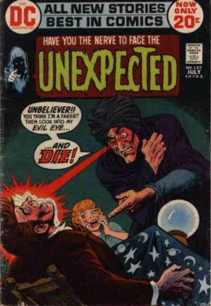 Tales of the Unexpected 137 - Crystal Ball - Evil Eye - Turban - All New Stories - Unbeliever