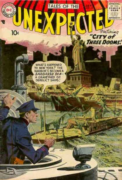 Tales of the Unexpected 15 - Statue Of Liberty - Submarine - Boat - Skyscrapers - Boats