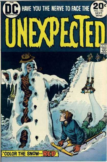 Tales of the Unexpected 150 - Sled - Red - Snow - Snowman - Corpse