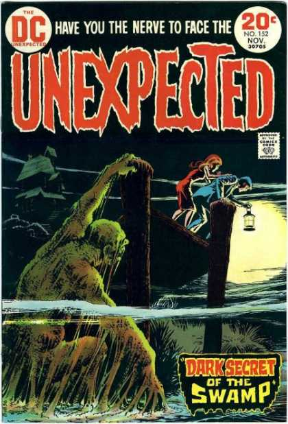 Tales of the Unexpected 152 - Swamp Thing - Have You The Nerve To Face The - Unexpected - Dark Secret Of The Swamp - Monster